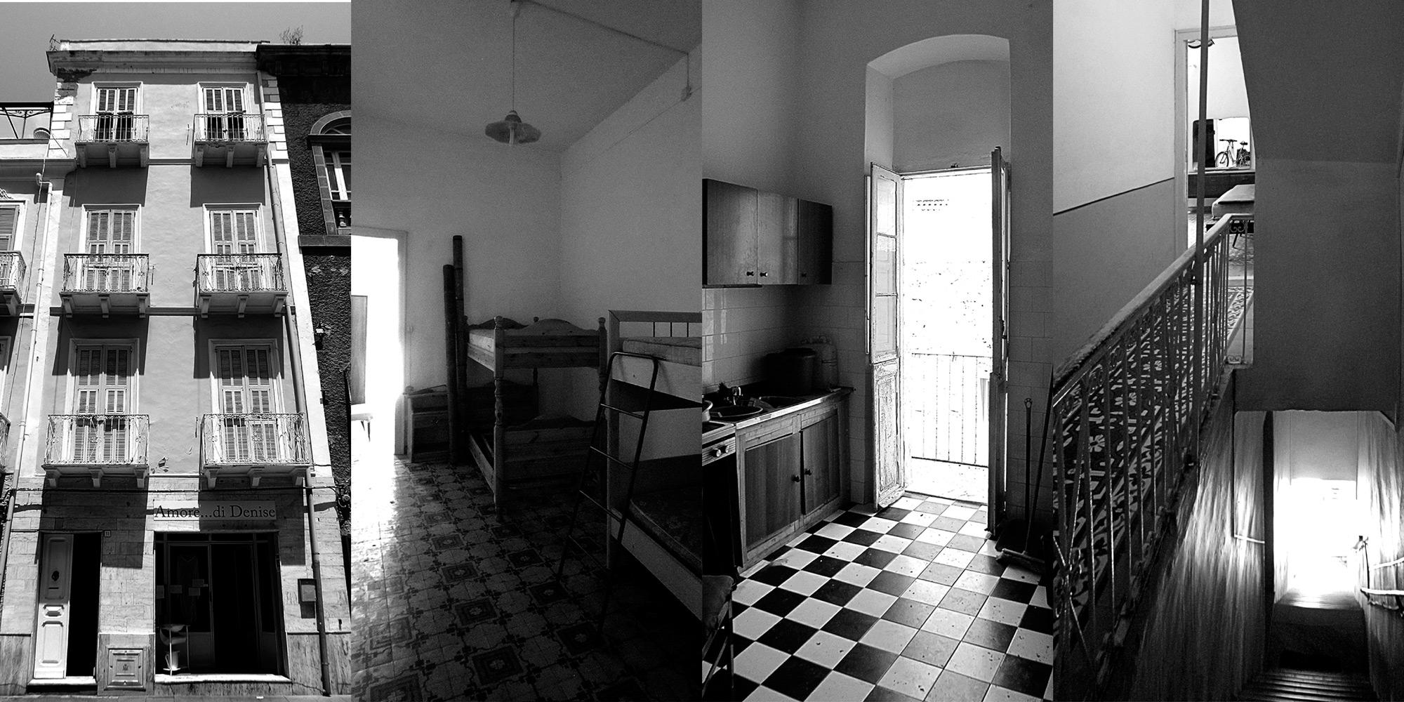 Intervento di recupero in un edificio di inizio '900 nel centro storico di Carloforte in Sardegna. }