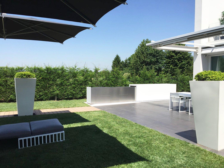 Kooq outdoor kitchen in the garden 3ndy Studio