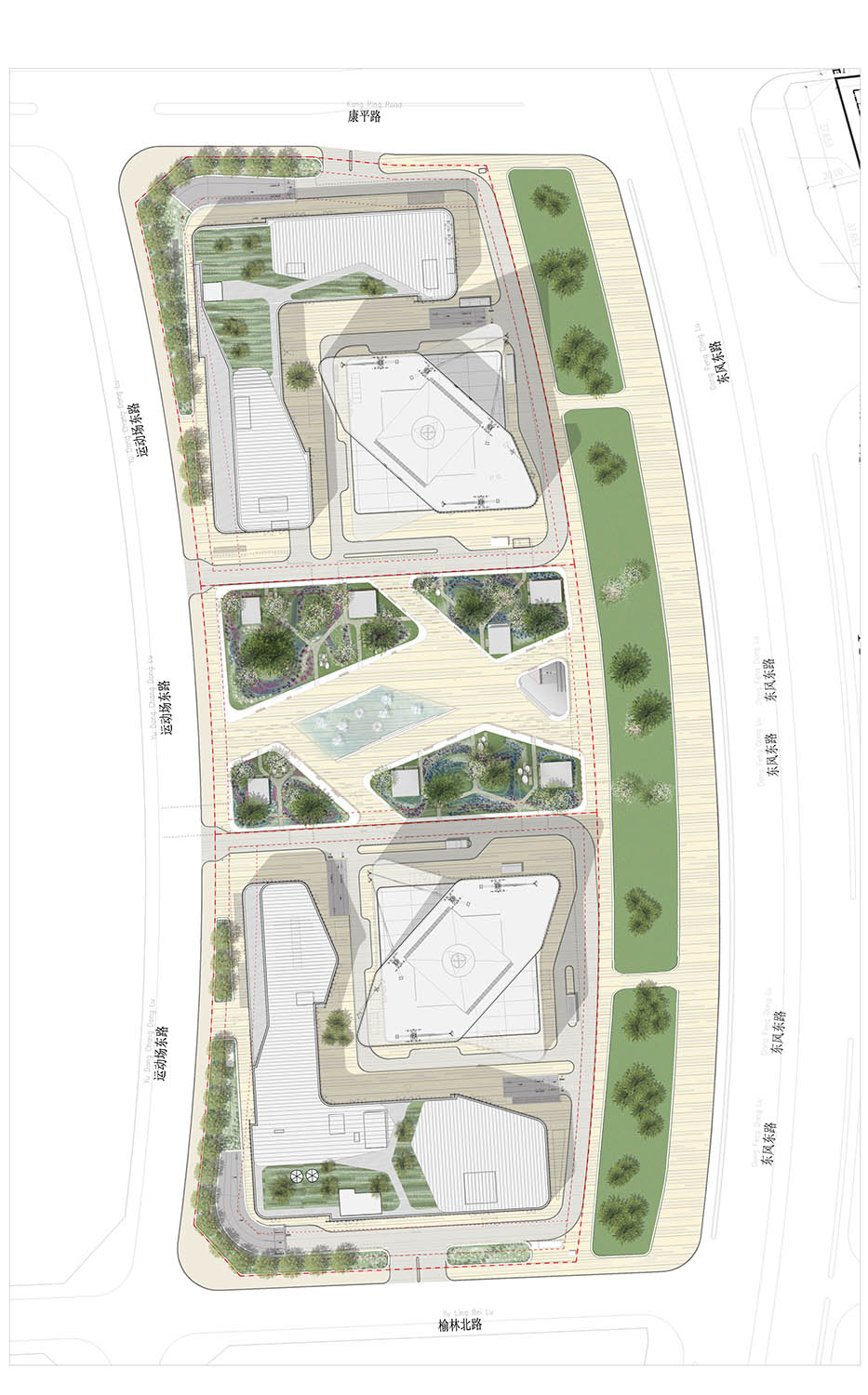 Site plan © gmp Architects}