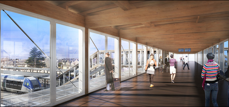 Footbridge © SNCF-AREP / Illustrator: LAcellule 3D, Olivier Jame}