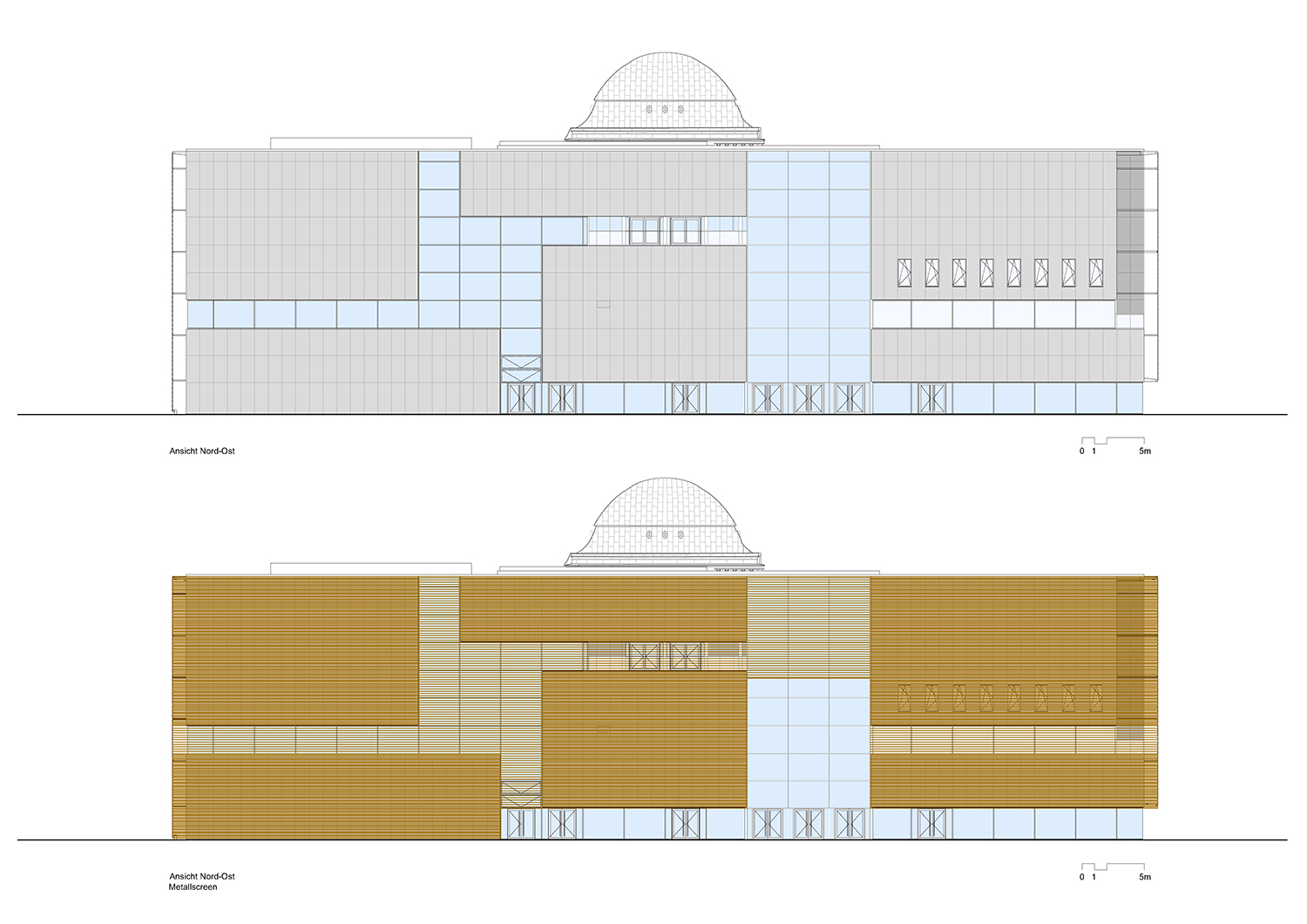 Northeast elevation © gmp Architects}
