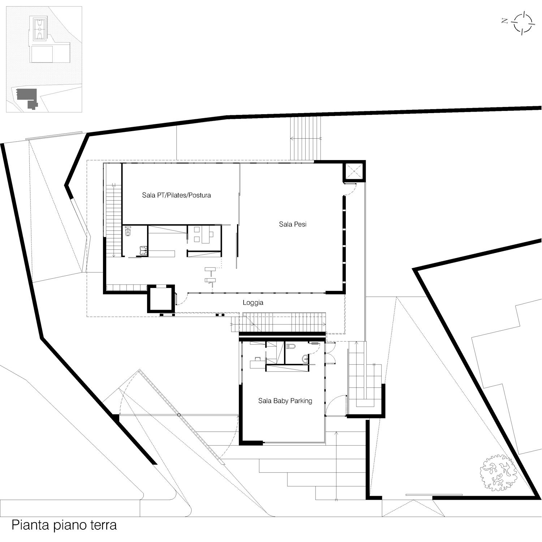 Corpo A - Pianta piano terra Giuseppe Todaro Architect}