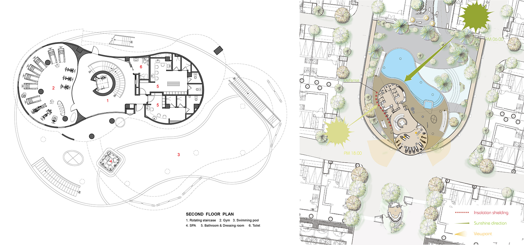 Green places 2F Plan-Sunshine direction Chain10 Architecture & Interior Design Institute}