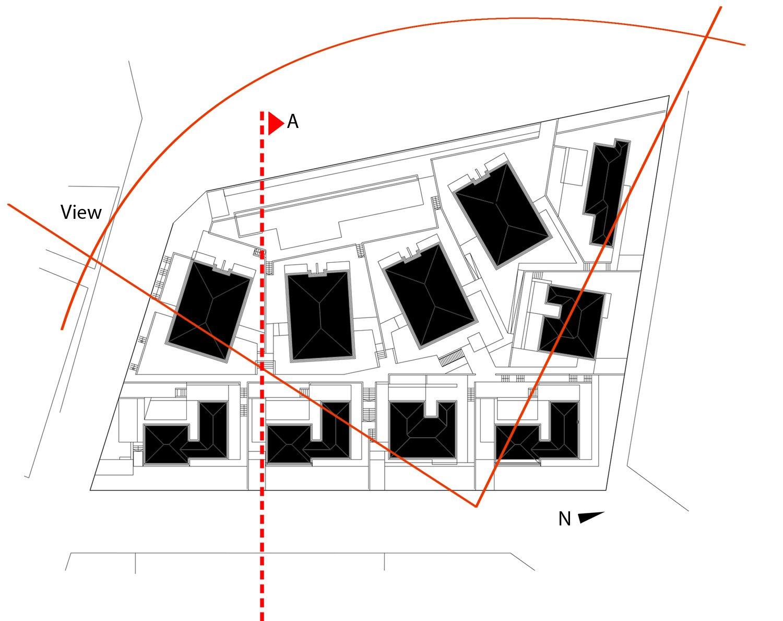 Site plan Beyaz Atolye Arcitecture}