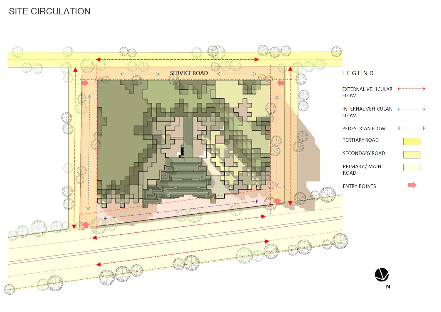 SITE  CIRCULATION & ACCESSIBILITY sanjay puri architects}