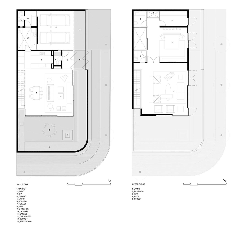 Plans - Main Floor and Upper Floor FCstudio}