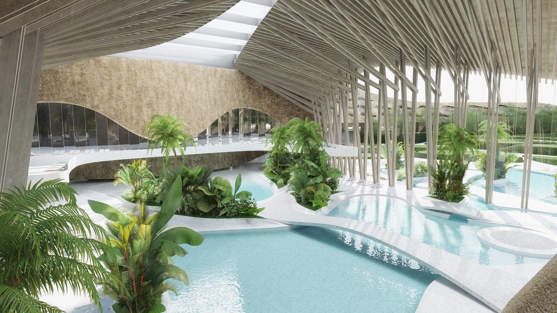indjija spa resort 07 pool area perspective view ENOTA