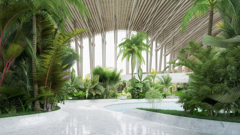 indjija spa resort 19 pool area perspective view ENOTA}