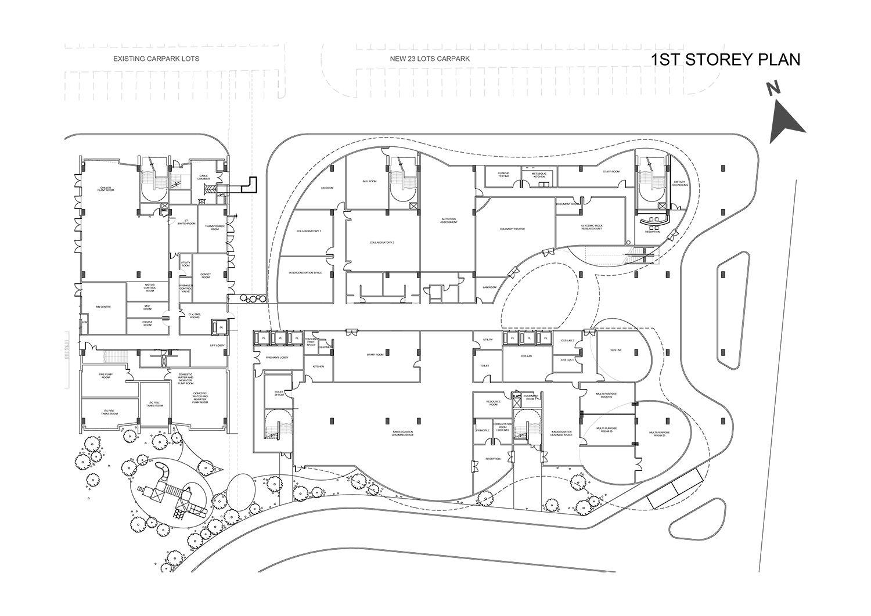 1st Storey Plan }