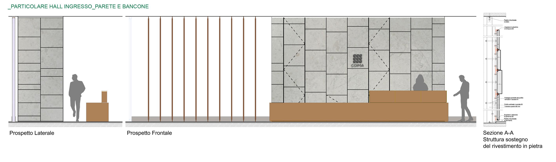Particolare Hall ingresso-Parete e balcone COIMA Image}