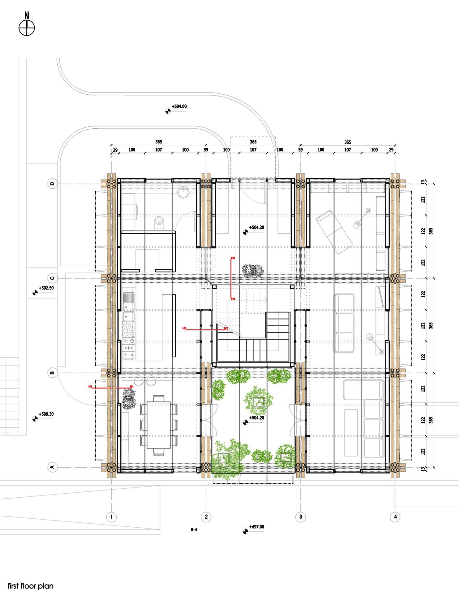3. First floor plan }