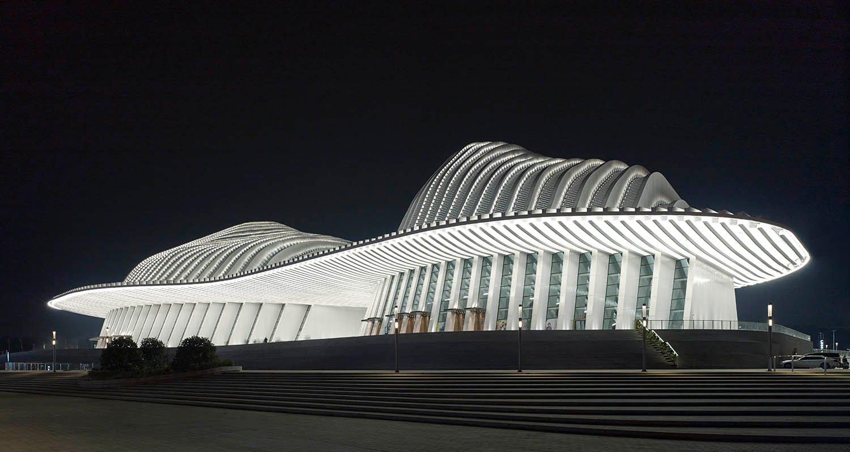 Illumination by night © Christian Gahl / gmp Architects