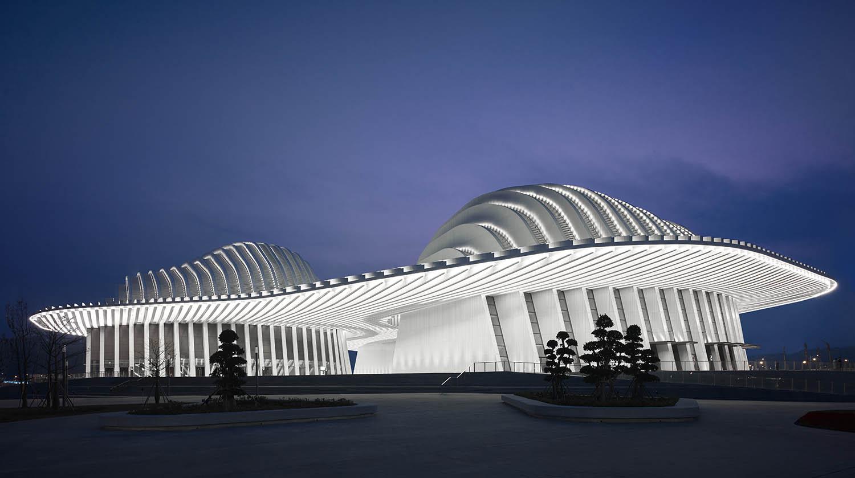 Evening Illumination © Christian Gahl / gmp Architects