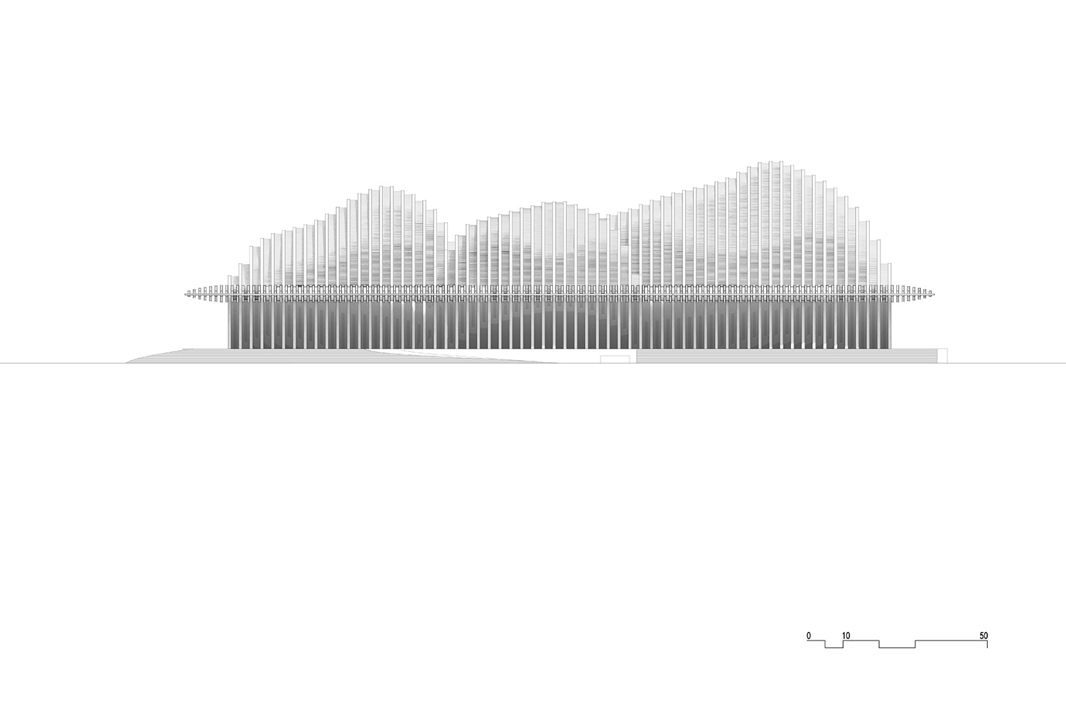 North elevation © gmp Architects}