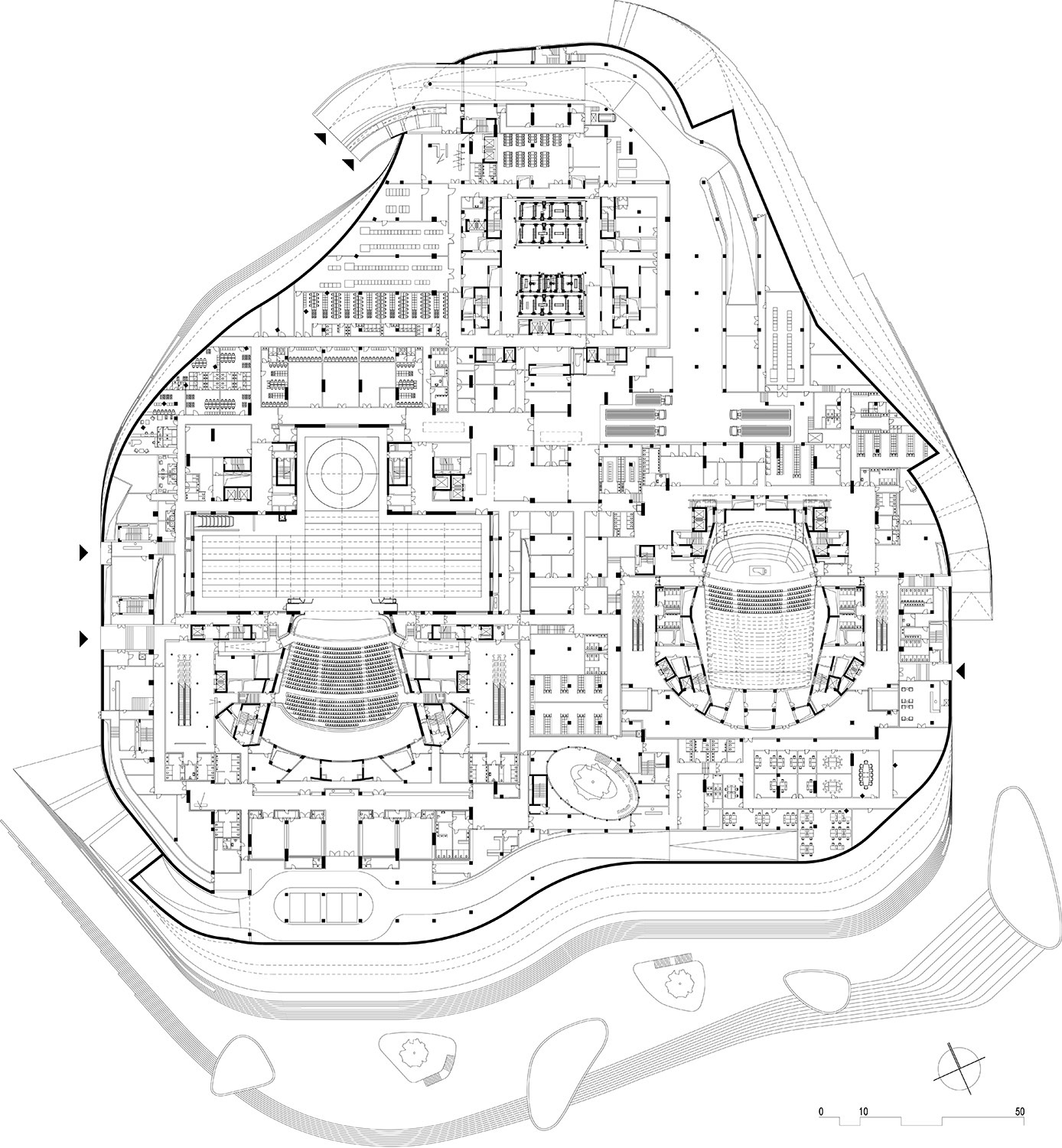 Floor plan level 01 © gmp Architects}
