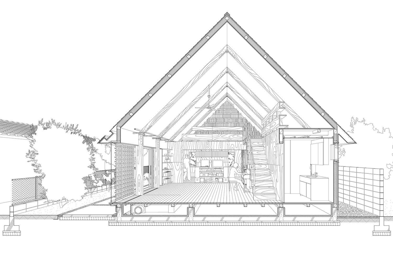 section perspective Mio Tachibana Architects}