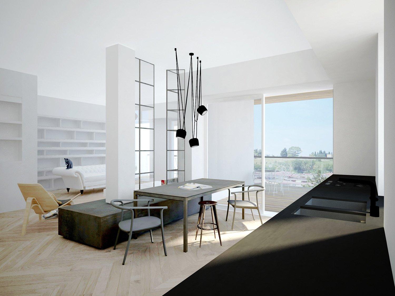 rendering della terrazza vista dalla cucina Massimo Valente