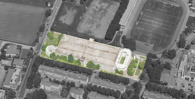 Vista dall'alto dell'area di progetto }