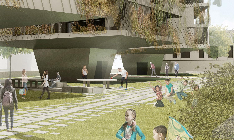 Dettaglio delle zone ricreative / Recreational areas detail Antonio Iascone Ingegneri Architetti