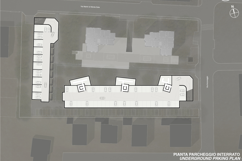 Pianta dell'interrato / Basement plan Antonio Iascone Ingegneri Architetti}