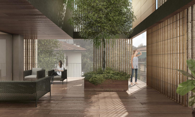 Vista di un terrazzo / Terrace view Antonio Iascone Ingegneri Architetti