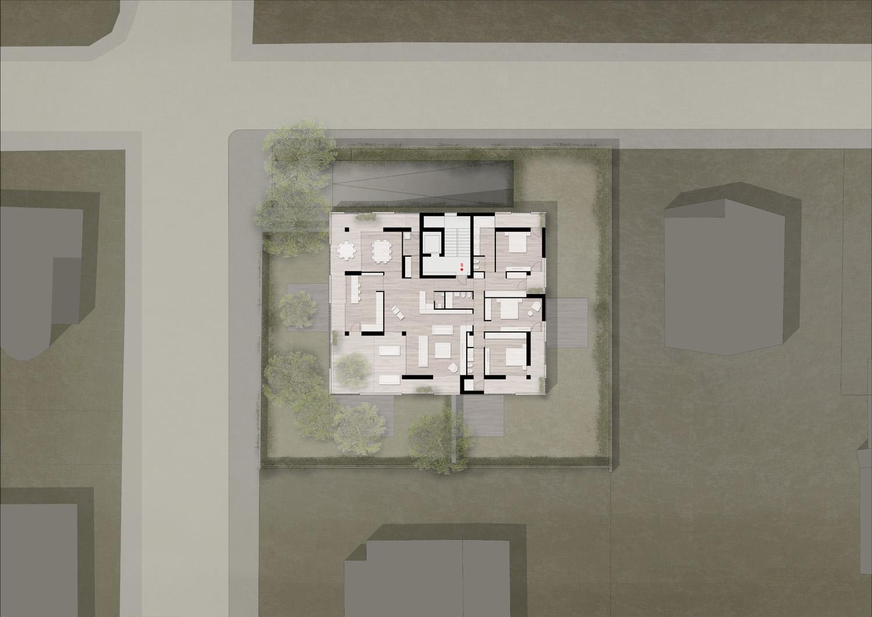 Pianta piano secondo / Second floor plan Antonio Iascone Ingegneri Architetti}