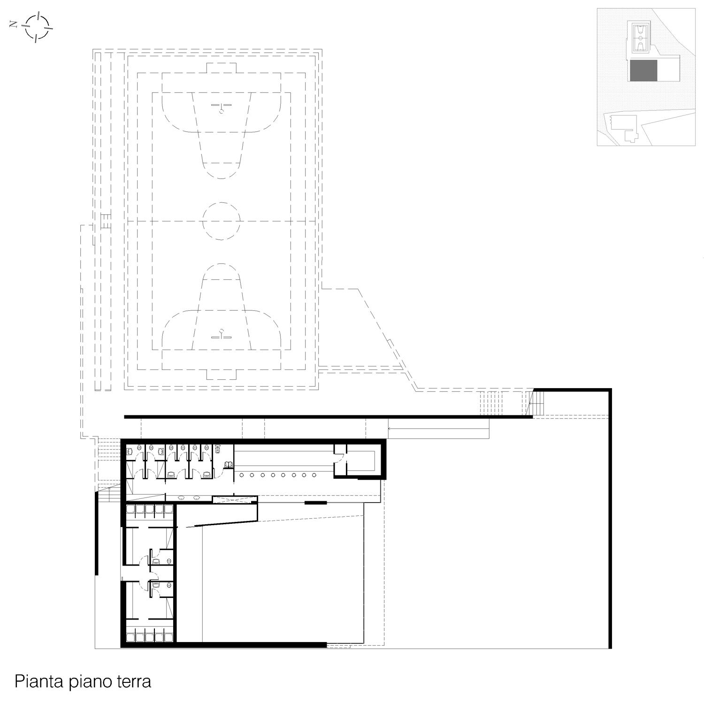 Corpo B - Pianta piano terra Giuseppe Todaro Architect}