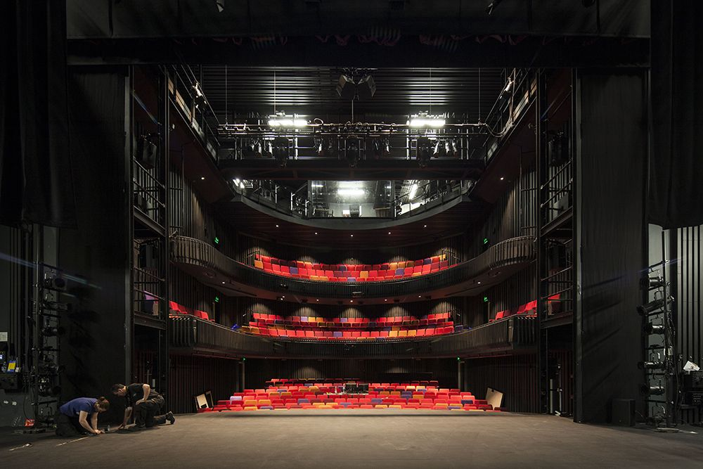 The main theatre contains 500 seats, yet feels intimate because of its compact set up