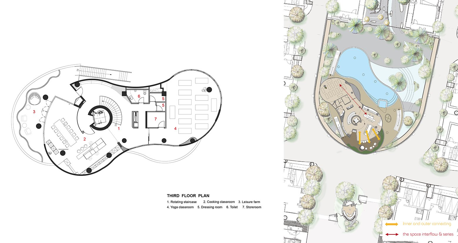 Green places 3F Plan-The space inter flow& series Chain10 Architecture & Interior Design Institute}
