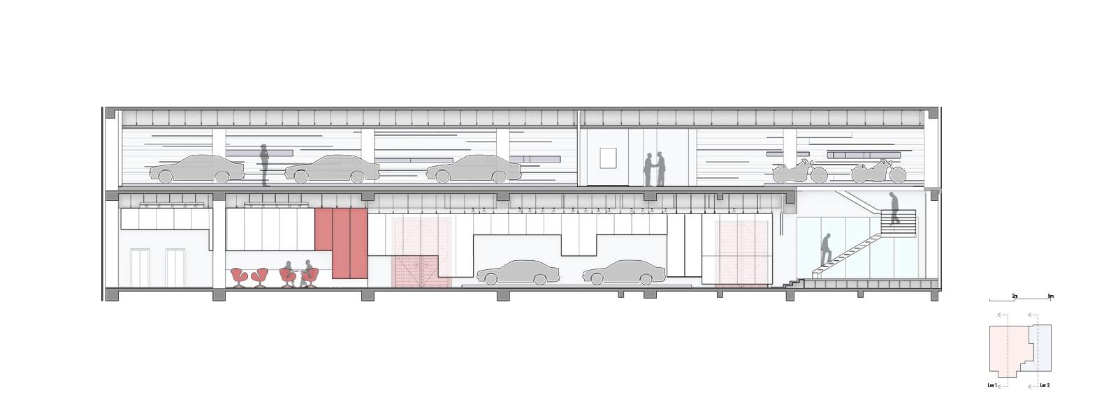 Zhengtong BMW Museum, section Crossboundaries}