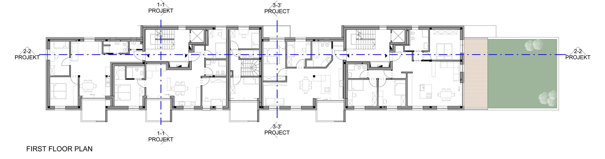 Plan of the First Floor }