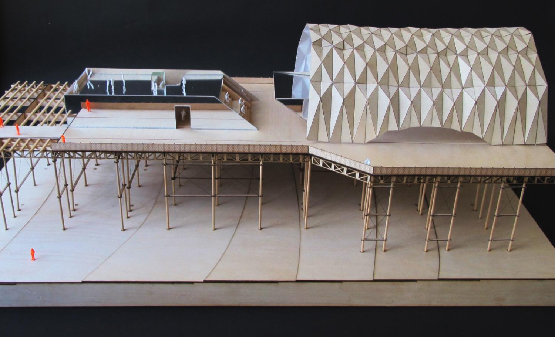 Hastings Pier Early Model }