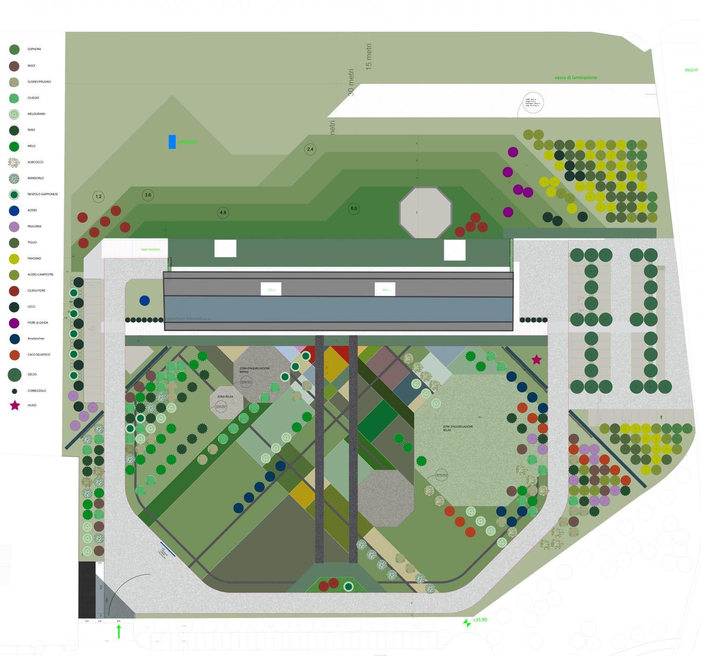 Planimetria con progetto del verde LIVELLO DUE}