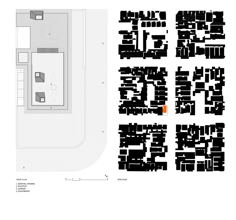 Plans - Roof Floor and Site Plan FCstudio}
