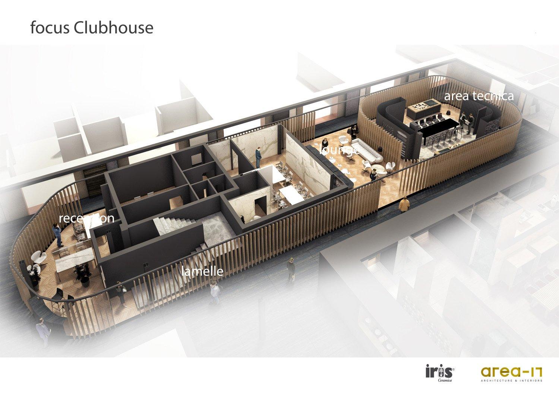 Vista assonomentrica Clubhouse Area-17 Architecture & Interiors}