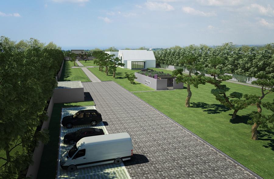 3D model of parking view Vermilion Zhou Design Group}