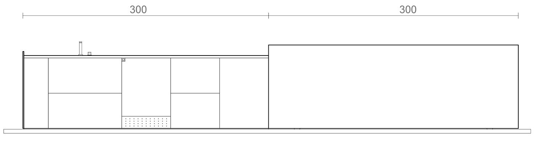 Elevation of open Kooq  3ndy Studio }