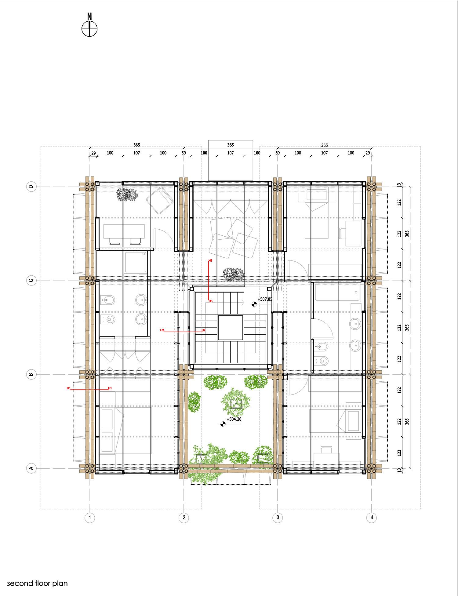 4. Second floor plan }