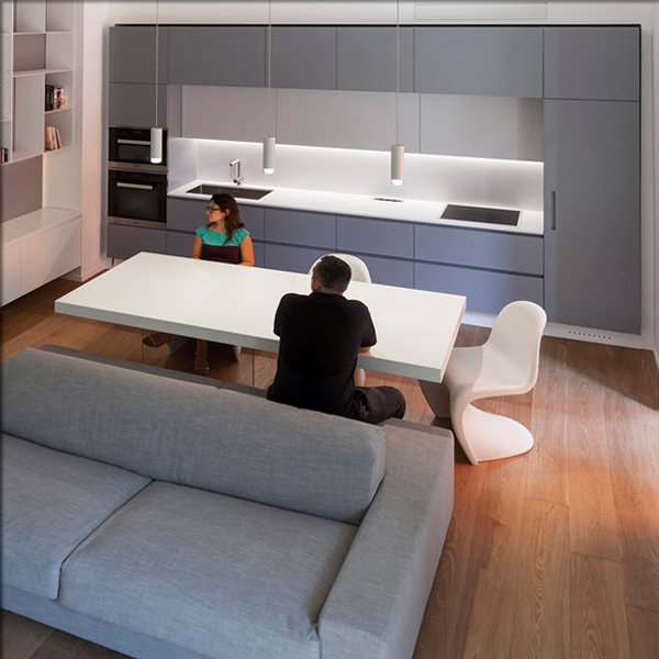 Blurring the boundaries between the kitchen and the living room