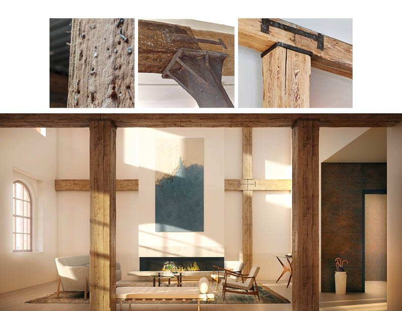 Materials and finishes that pay homage to the architectural heritage of the building Montse Zanorano; Adrian Gaut; CetraRuddy Architecture }