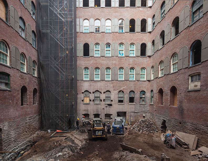 Prior to renovation, the interior courtyard was previously used for loading and unloading and had been neglected and unoccupied  Montse Zamorano