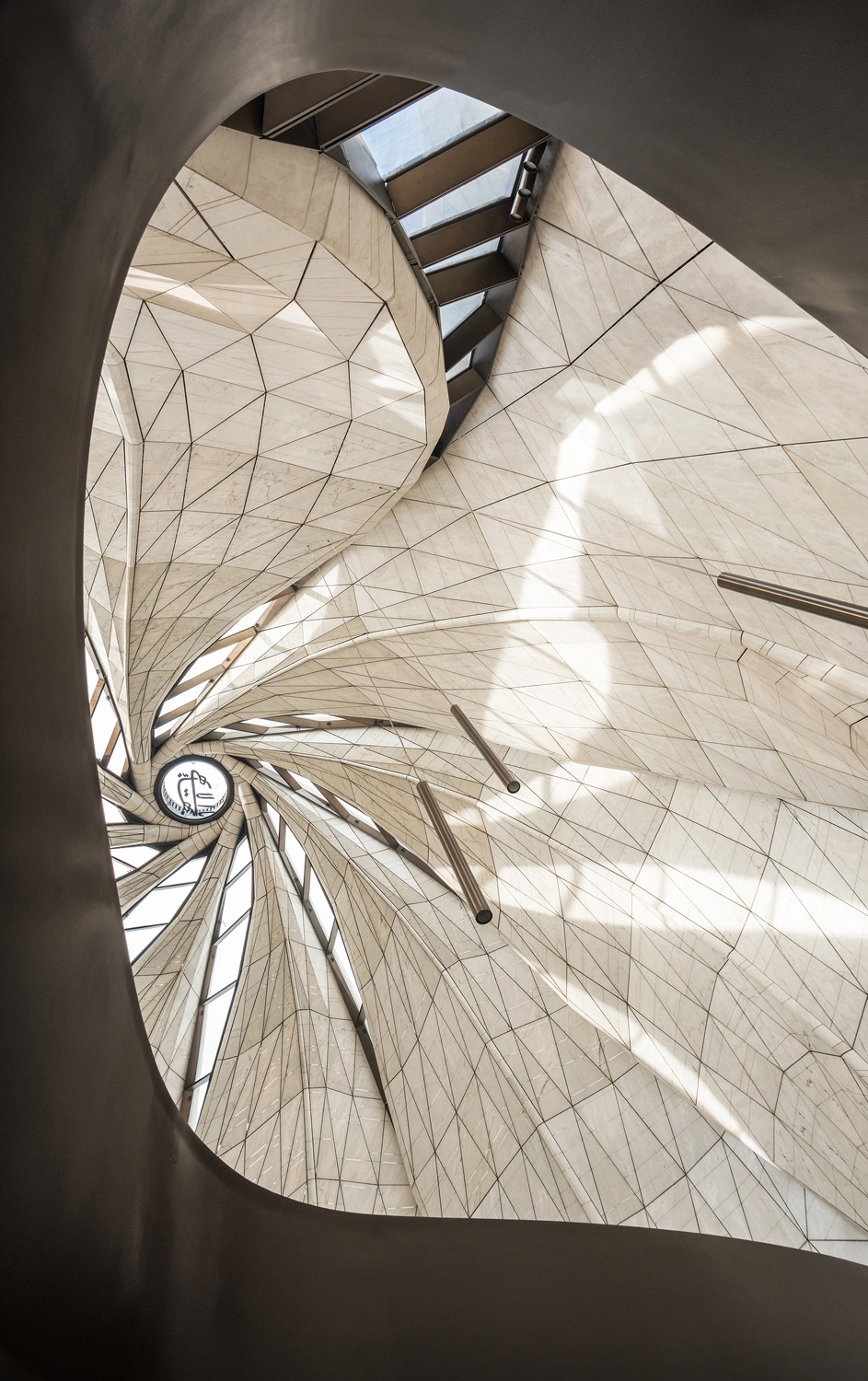 View looking up at Oculus
