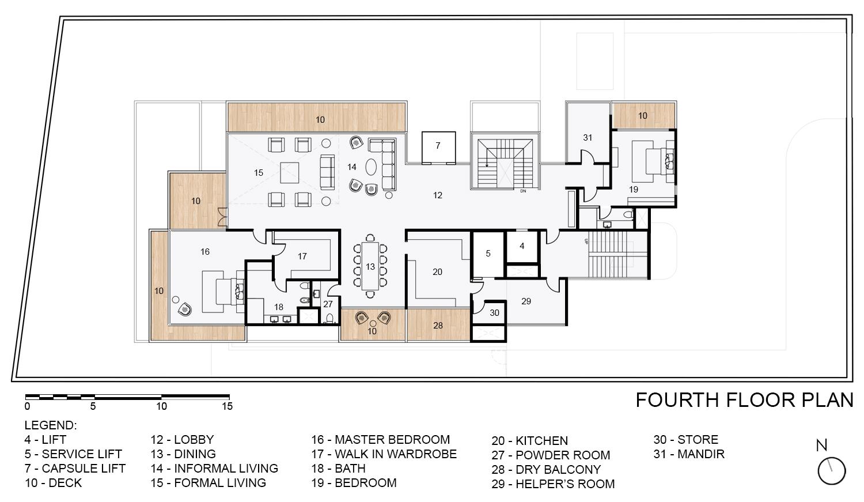 Fourth Floor Plan KNS Architects