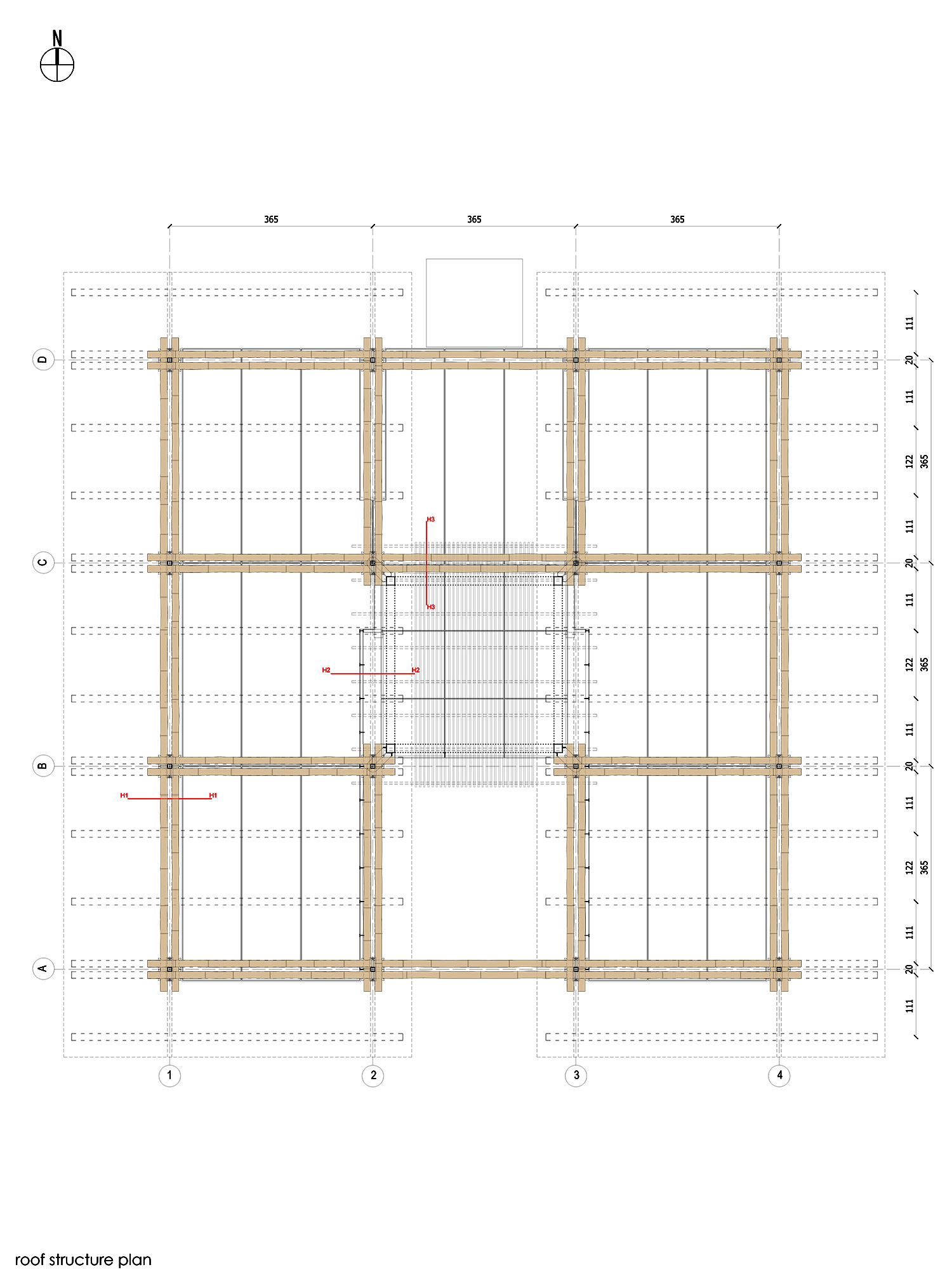 5. Roof structure plan }