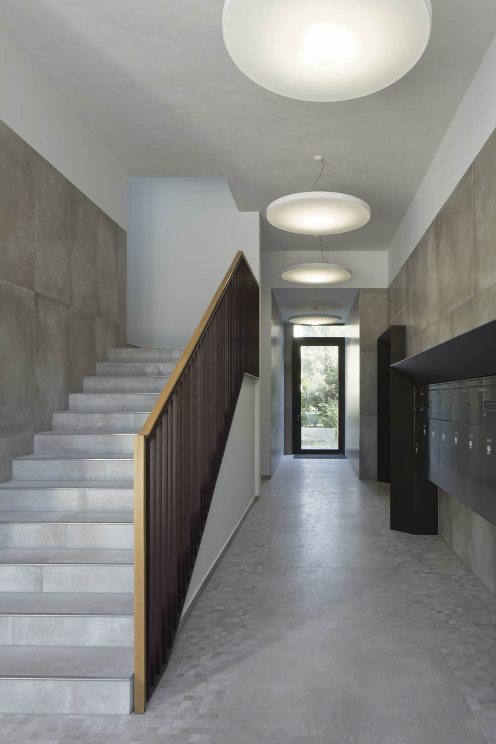 The interior design corresponds with the material and colour choices of the surface Werner Huthmacher