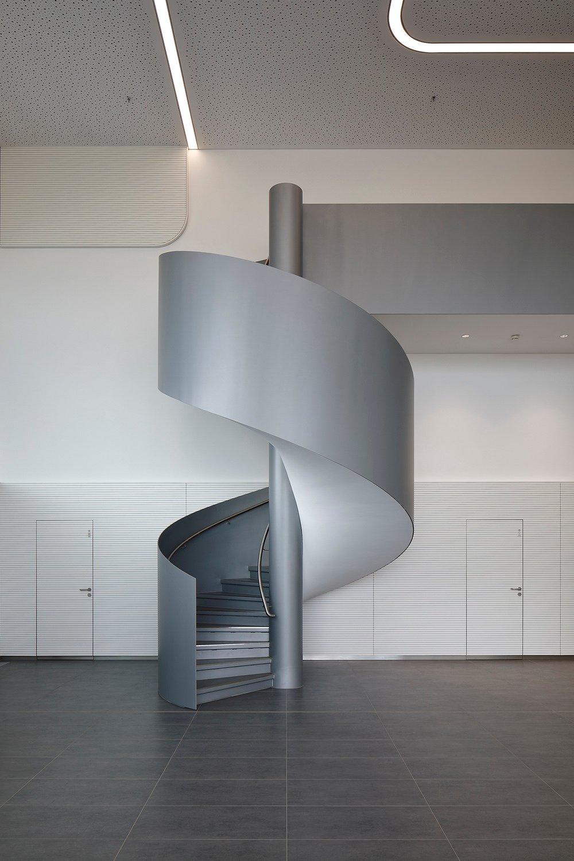 impressing rounded staircase  Hans Jürgen Landes