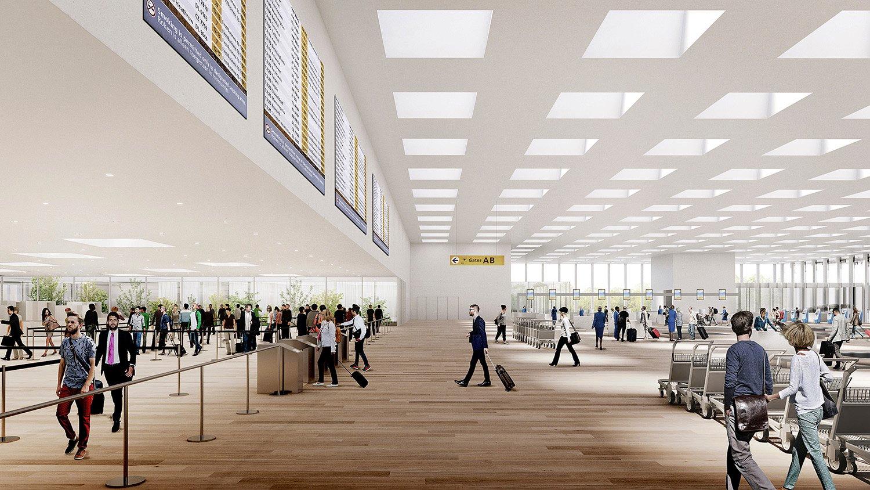 Departures area KAAN Architecten