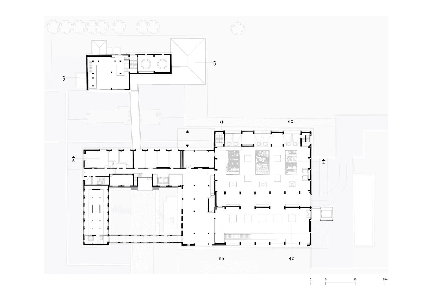 Abdullah Gül Presidential Museum and Library - First Floor Plan }