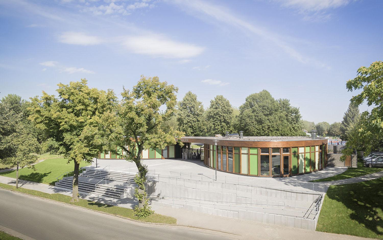 New colourful entrance area Nauen City Baths  Lev Chestakov