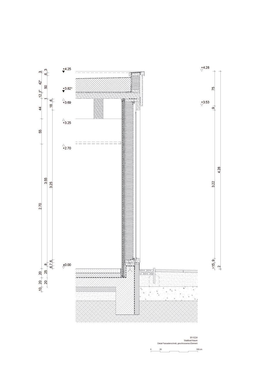 Wooden element of the façade Tchoban Voss Architekten}